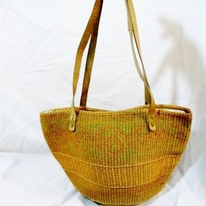 Ethnic Woven Knit Hobo Bucket Sling Shoulder Bag